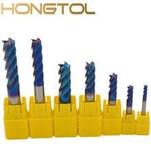 1 шт Вольфрам Карбид фрезы 4 флейты ЧПУ фреза Инструменты для лица и обработки слот HRC60 покрытием фрезы