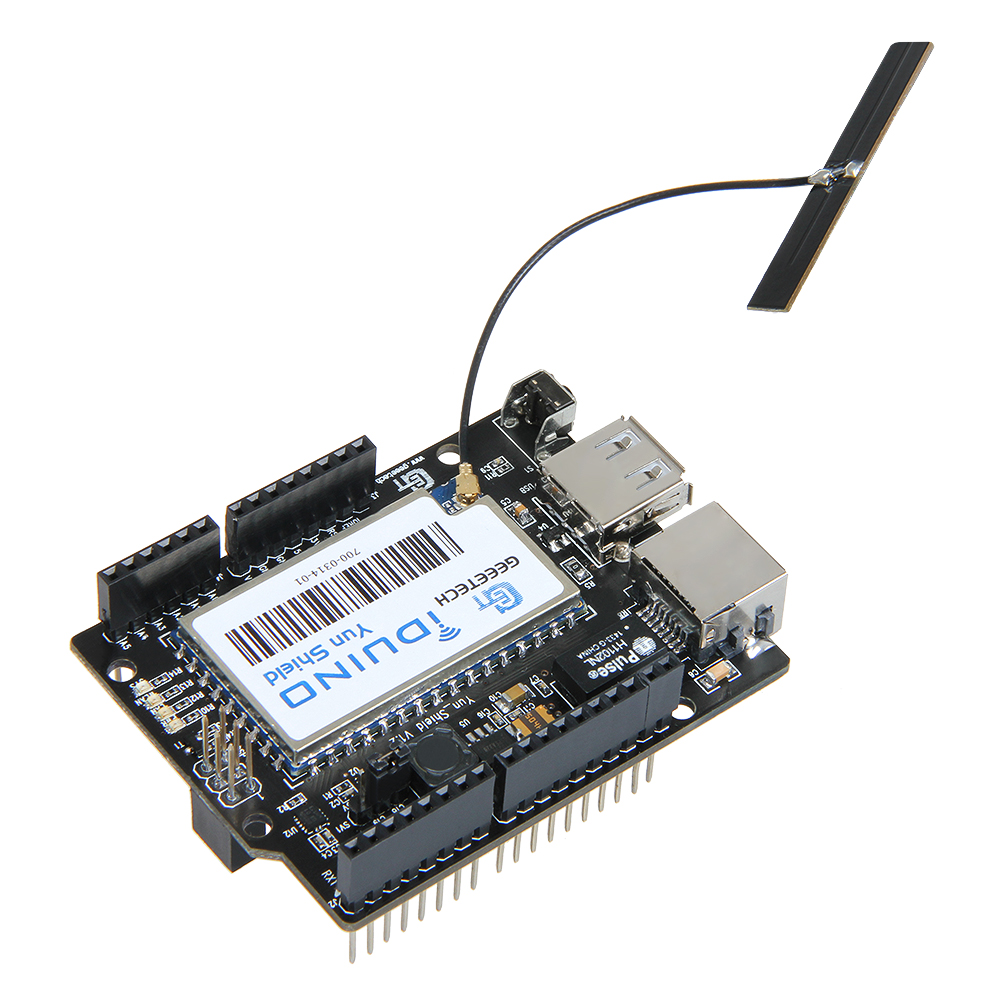 Geeetech Free Shipping Yun Shield For Arduino Leonardo, UNO, Mega2560 WiFi, Ethernet, USB, All-in-one Shield