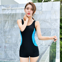 Bodysuit 2018 Sport Swimwear Women One Piece Swimsuit Boyshort Bathing Suit Backless Bodysuits Patchwork Swimming Suits