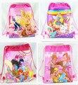 12 unids caliente Winx Club cordón las muchachas de la historieta del bolso de escuela de los niños mochilas escolares impresión regalos para la fiesta de cumpleaños bolsas
