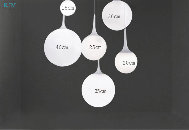 Modern Minimalist Glass Spherical Pendant Lights Creative Personality Nordic Hang Lamp Lighting