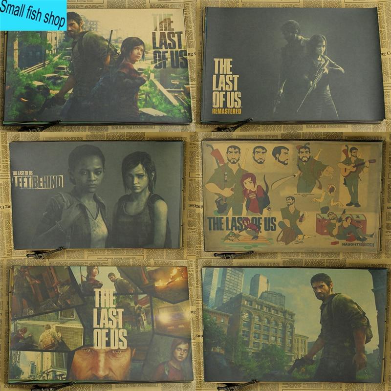 The Last of Us Virtual spel Woninginrichting decoratie Kraft Game Poster Tekenkern Muurstickers