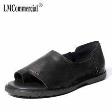 Mens Fashion Retro-Roman Shoes Summer Sandals Genuine Leather Leisure mens gladiator sandals summer Flip Flops