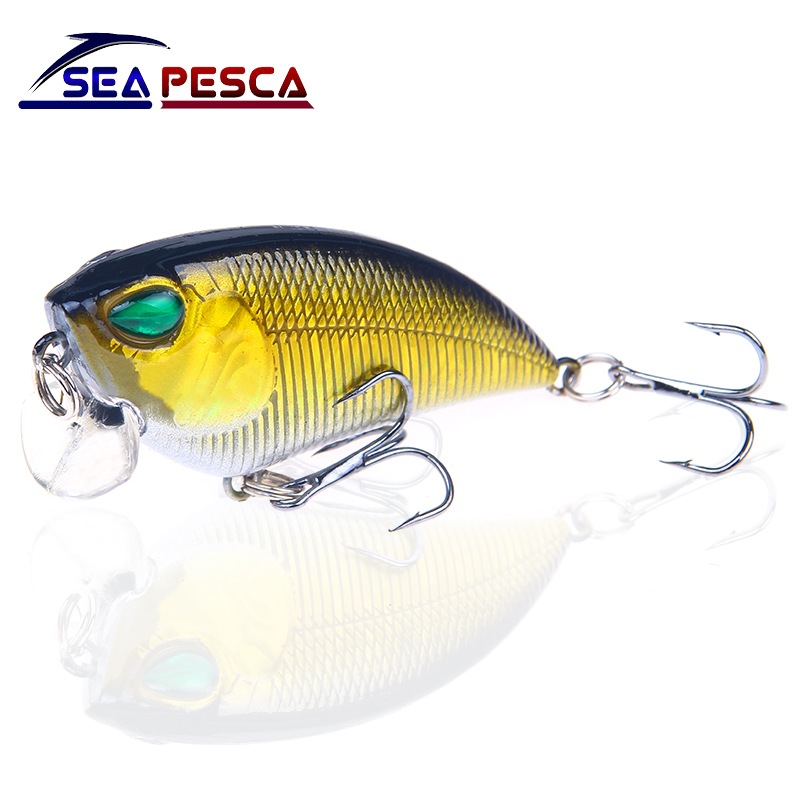SEAPESCA Topwater Minnow Fishing Lure 6cm 6.5g Wobbler Isca Artificial Hard Bait Fish Crankbait Carp Fishing Tackle JK512 allblue slugger 65sp professional 3d shad fishing lure 65mm 6 5g suspend wobbler minnow 0 5 1 2m bass pike bait fishing tackle
