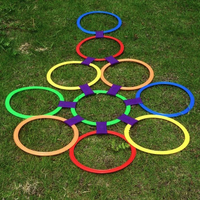 Kids Outdoor Jumping Ring Games with Friends Sport Toy Jump to the Grid Children Sensory Integration Training Game
