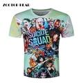 Men Harley Quinn T-shirts 3D Joker Suicide Squad T shirts Funny Movie Skateboard Tops Fashion Short Sleeve Deadshot ZOOTOP BEAR