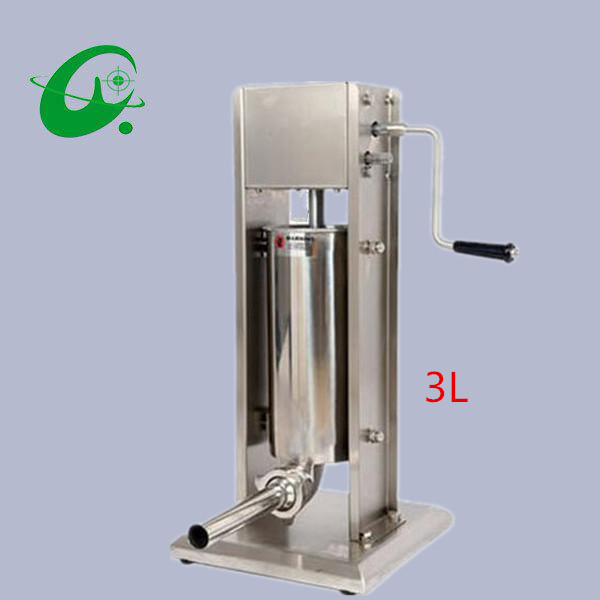 Stainless steel Vertical Commercial horizontal Sausage Stuffer Filler Machine Manual 3L enema machine sausage filler food processor 3l big sausage maker manual sausage stuffer machine fast delivery making filling vertical sausage filler