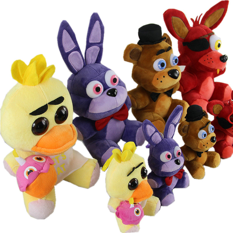 Five Nights At Freddy's 4 Fnaf World Freddy Fazbear Bear Foxy Bonnie Chica Plush Stuffed Toys Doll Peluche Boneca Kids Toy KF103 wholesale five nights at freddy s 4 fnaf freddy fazbear bear foxy plush toys doll kids birthday gift