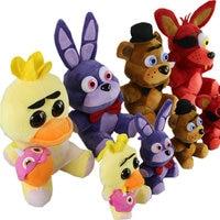 Five Nights At Freddy's 4 Fnaf World Freddy Fazbear Bear Foxy Bonnie Chica Plush Stuffed Toys Doll Peluche Boneca Kids Toy KF103