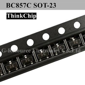100 unids/lote BC857C BC857 SOT-23 triodo SMD PNP señal transistor (marcado 3G)