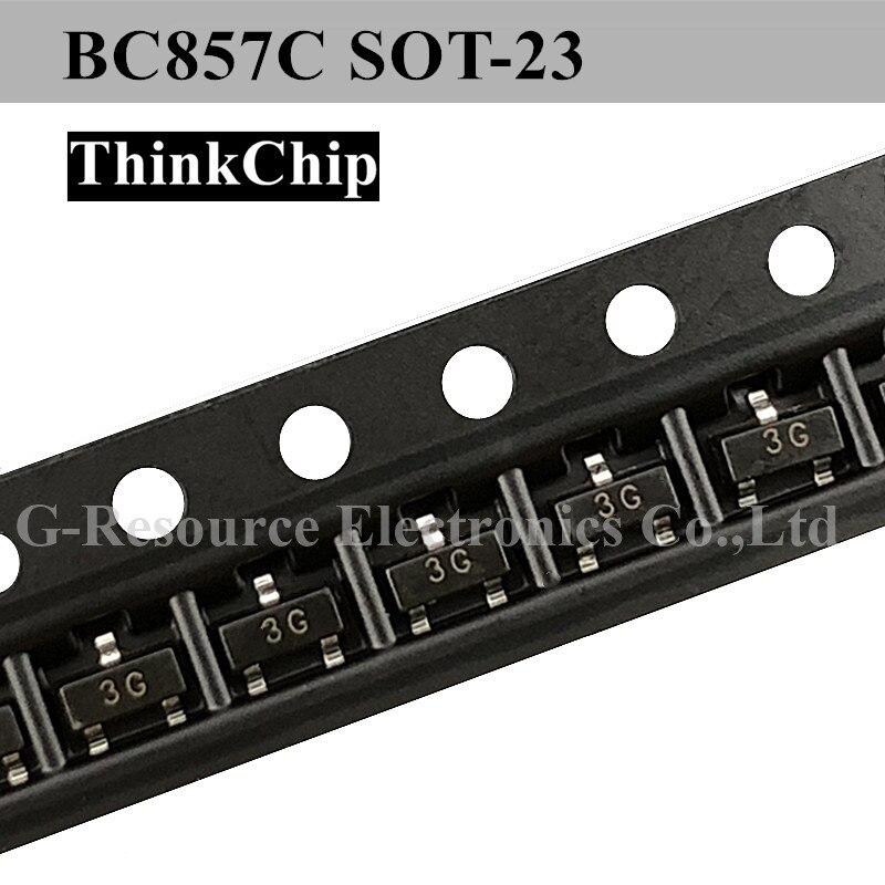 Free Shipping 100pcs/lot BC857C BC857 SOT-23 NPN Silicon Bipolar Transistor (Marking 3G)