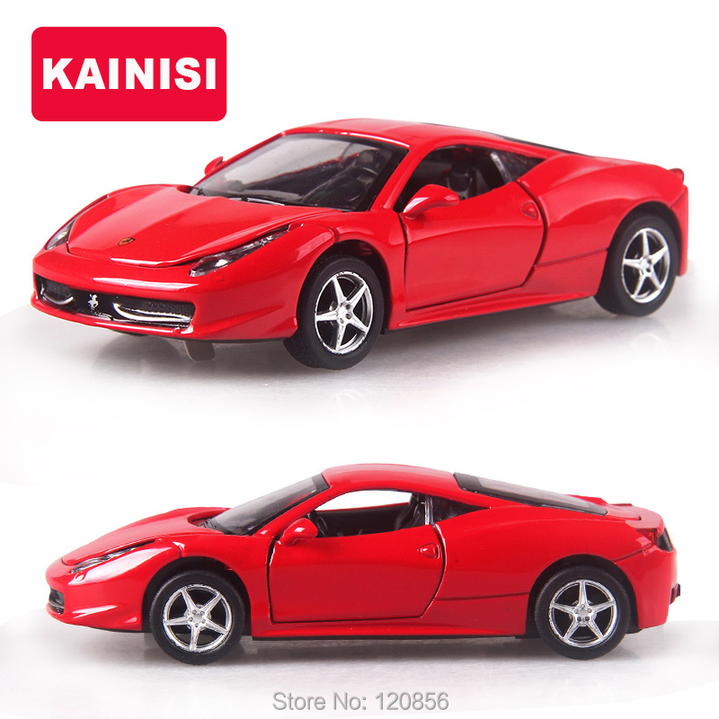 cool 14cm 4 color alloy cars 132 f458 super car pull back diecast model