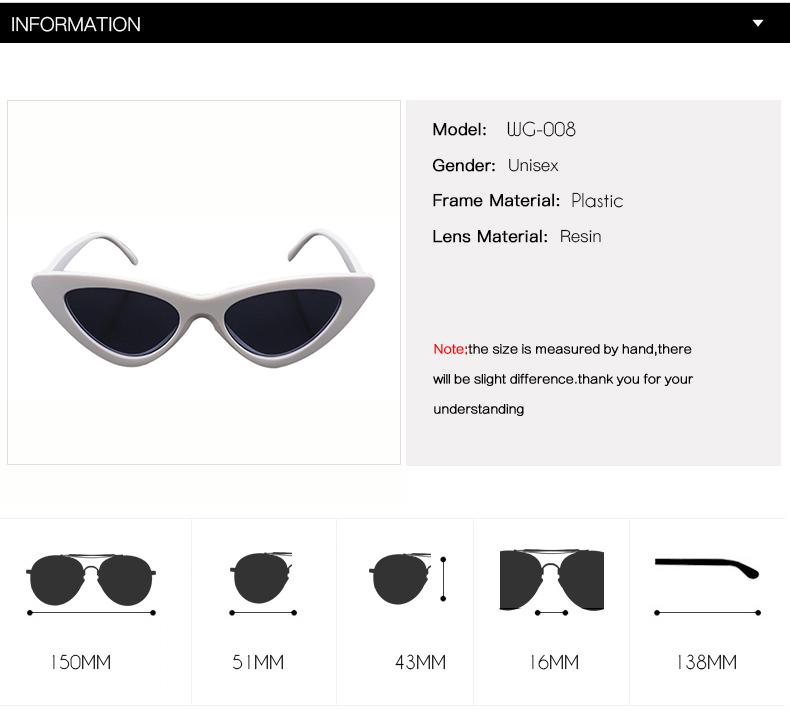HTB1We.enBUSMeJjy1zjq6A0dXXaO - WHO CUTIE 2018 Brand Designer Black Cat Eye Sunglasses Women Cool Small Cateye Frame Sun Glasses Fashion UV400 Shades WG-008