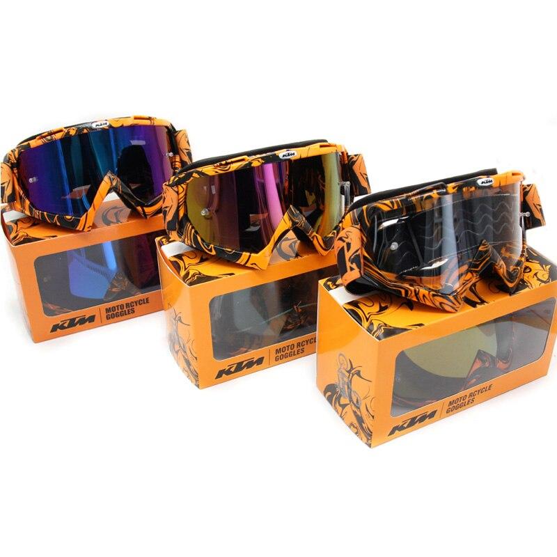 Motorcycle goggles gebruik Voor KTM Motorhelm ATV DH MTB Dirt Bike Bril Oculos Antiparras Gafas motocross goggles