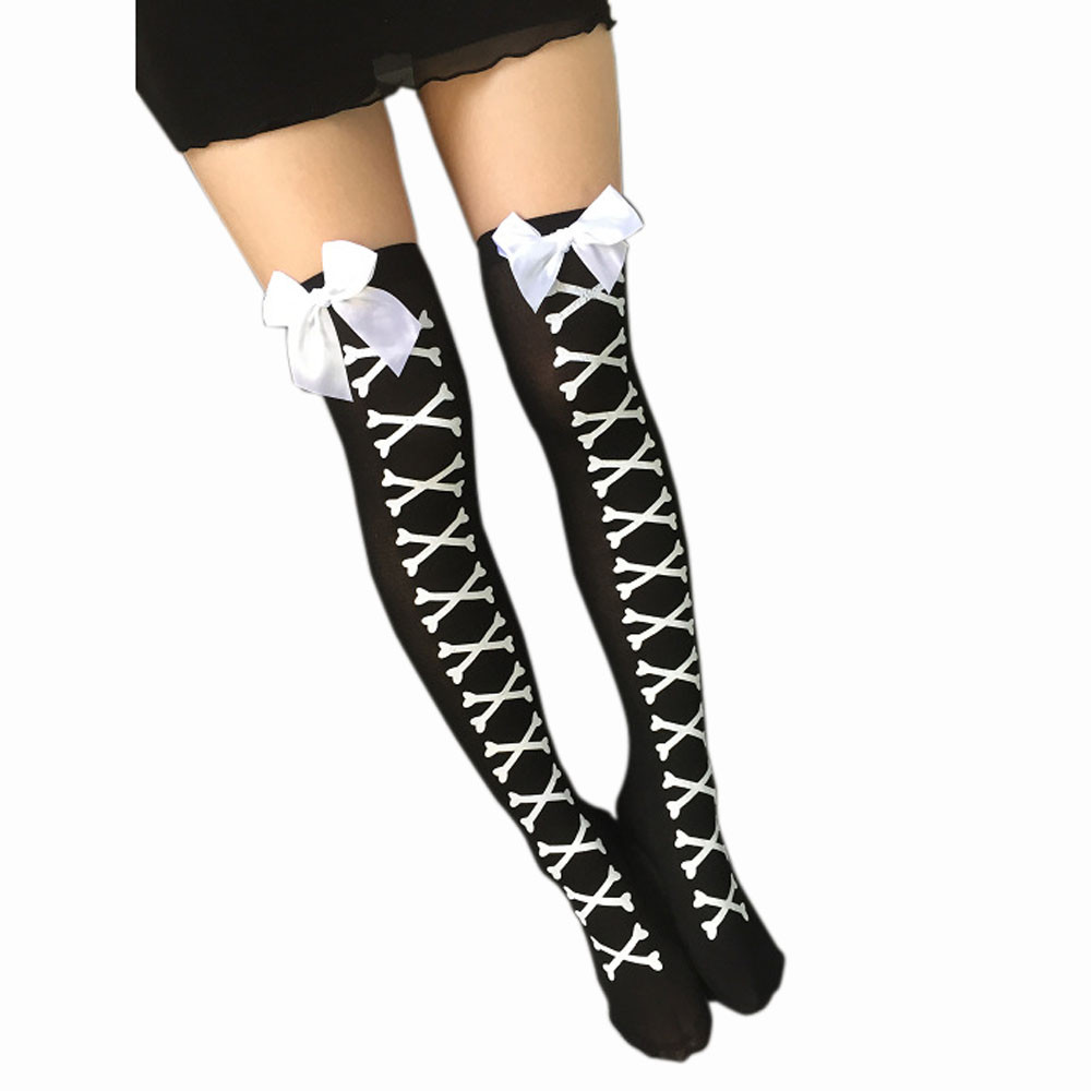 High Elasticity Girl Cotton Knee High Socks Uniform Sunny Skiing Women Tube Socks