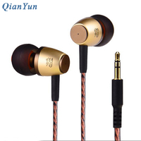 Qian99 Original Brand Wire In Ear Earphone 3 5mm Stereo Earphones HIFI Earbuds For Computer Without