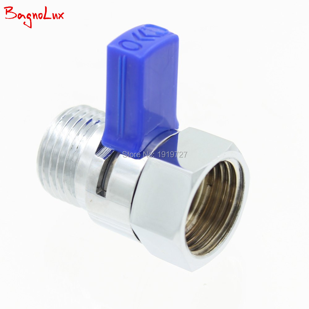 Wholesale Promotional Bathroom Polished Chrome Shower Head Shut-Off Valve Hand Shower Pressure Quick Brass With Metal Handle