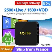 IPTV Portugal Box MX10 4G 64G Android 8.1 RK3328 1 Year IUDTV IPTV Sweden Germany UK Italy Portugal Turkey Spain IP TV цена в Москве и Питере
