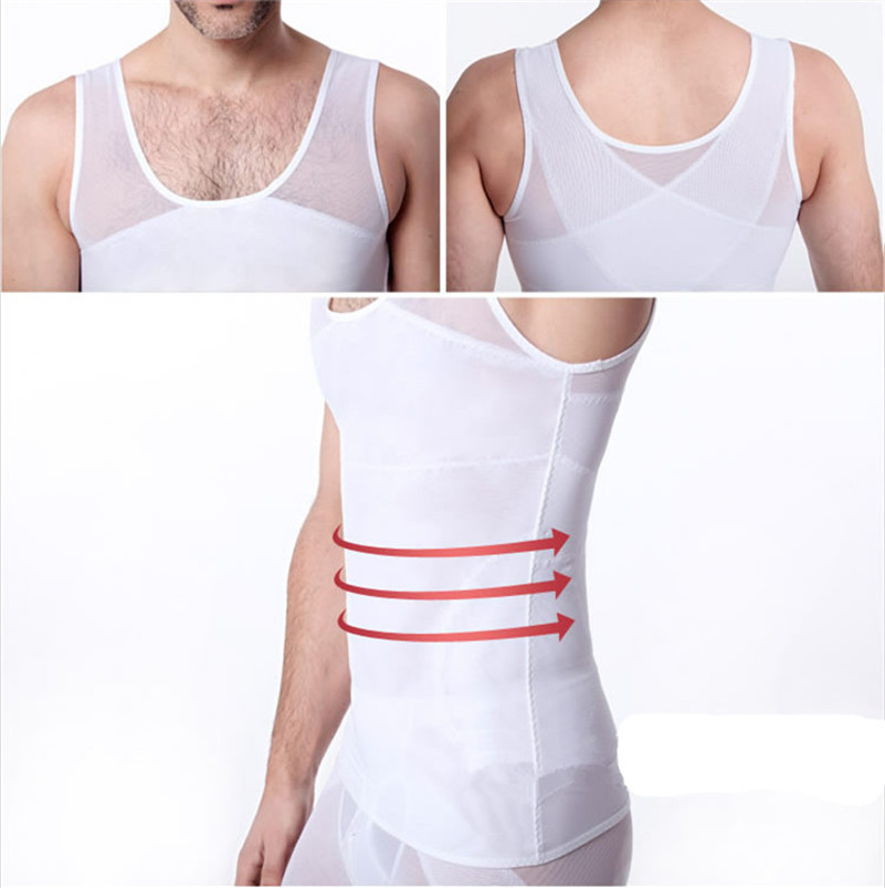 a2133af441 Mens Gynecomastia Vest Chest Binder Posture Corset Male Abdomen Trainer  Belly Reduce Fat Slim Fit Body Shaper Back Cross Tops-in Shapers from  Underwear ...