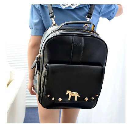 ФОТО Free shipping new 2104 spring women preppy style leather backpack school bag PU backpack girls bags