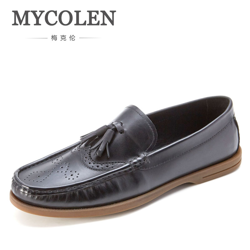 MYCOLEN Breathable Casual Shoes Mens Black New Shoes Comfortable Men Spring Autumn Breathable Men Casual Shoes Boat Shoes mycolen new men shoes loafers leather white men s casual shoes brand comfortable spring autumn fashion breathable man shoes