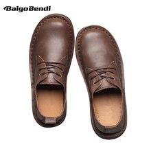 Рекомендую! Мужские всесезонные повседневные туфли в стиле ретро