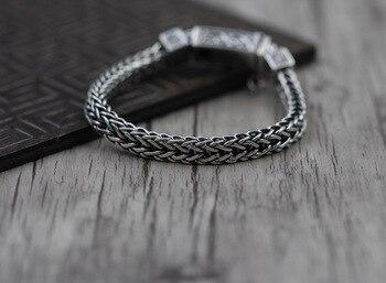 925 sterling silver jewelry make do old man character anchor bracelet grain Retro bracelet Thai silver