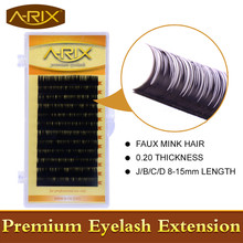 Wholesale 1 pack Eyelash Extension All Size 8-15mm length 0.20 False Mink Hair Individual Silk Lash