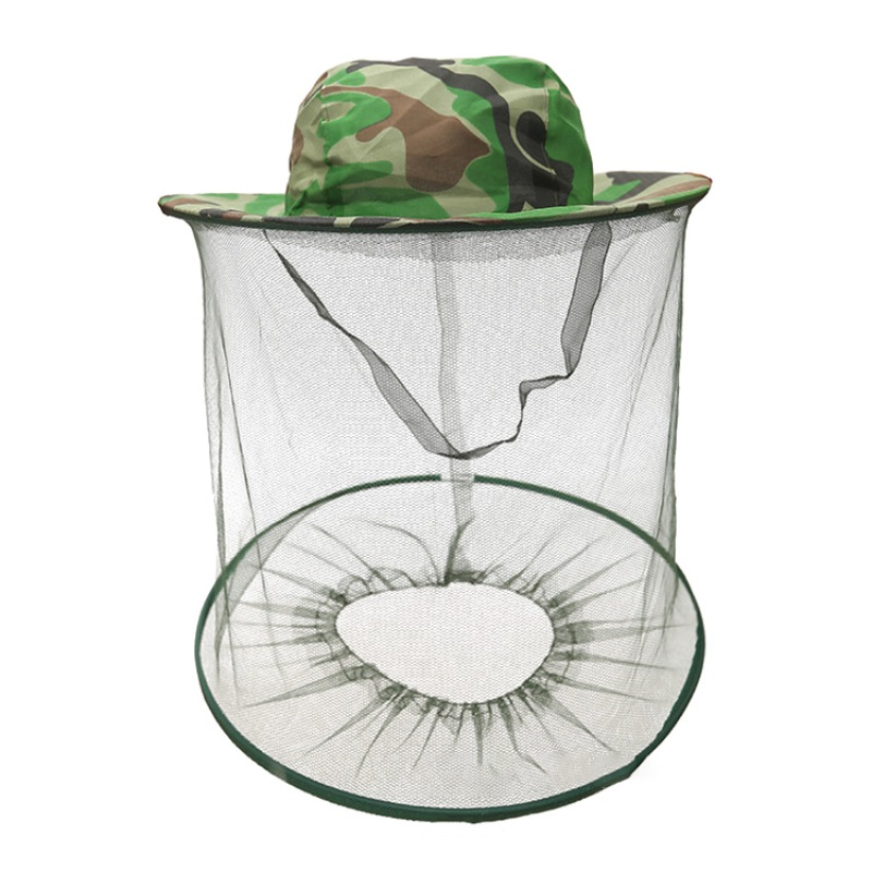 Beekeeping Hat Anti Bee Mask Cap Mosquito Net Cap Outdoor Bee Insects Bee Insect Proof Hat Mesh Fishing Sunshade in Protective Clothing Accessories from Home Garden