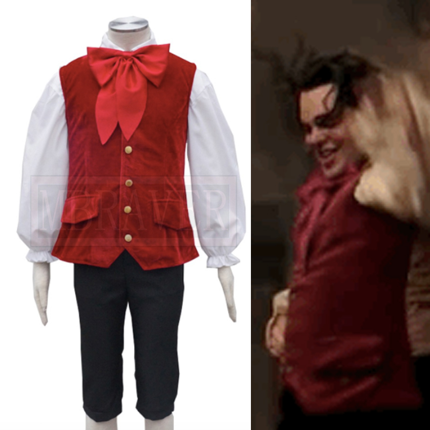 2017 Movie Beauty and the Beast Lefou Cosplay Costumes Men Outfit Halloween Carnival Clothing Custom-made Any Size