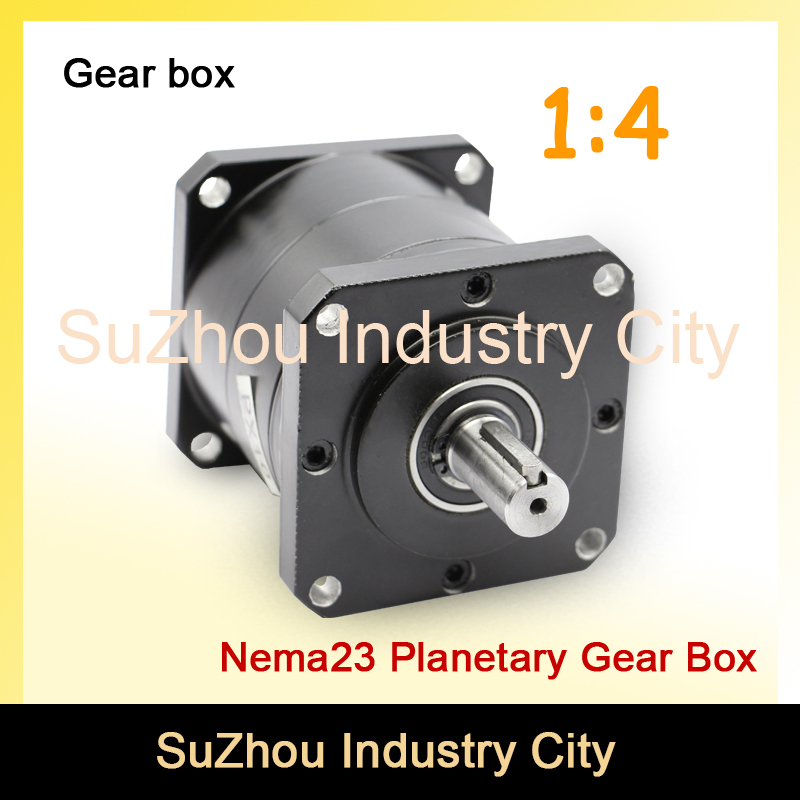 1:4 Nema23 stepper Motor Planetary Reduction Ratio 4:1 planet gearbox 57 motor speed reducer, High Torque high quality !! цена и фото