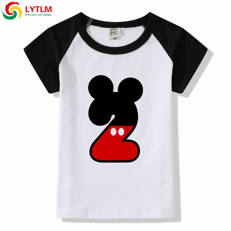 Detail Feedback Questions About LYTLM Birthday 2 Years Boy Children T Shirt Short Sleeve Shirts For Boys Baby Cartoon Clothes Girls Kids Tops In