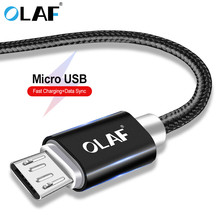 цена на OLAF Nylon Braided Micro USB Cable 1m/2m/3m/1.5m/0.25m Data Sync USB Charger Cable For Samsung huawei xiaomi Android Phone Cable