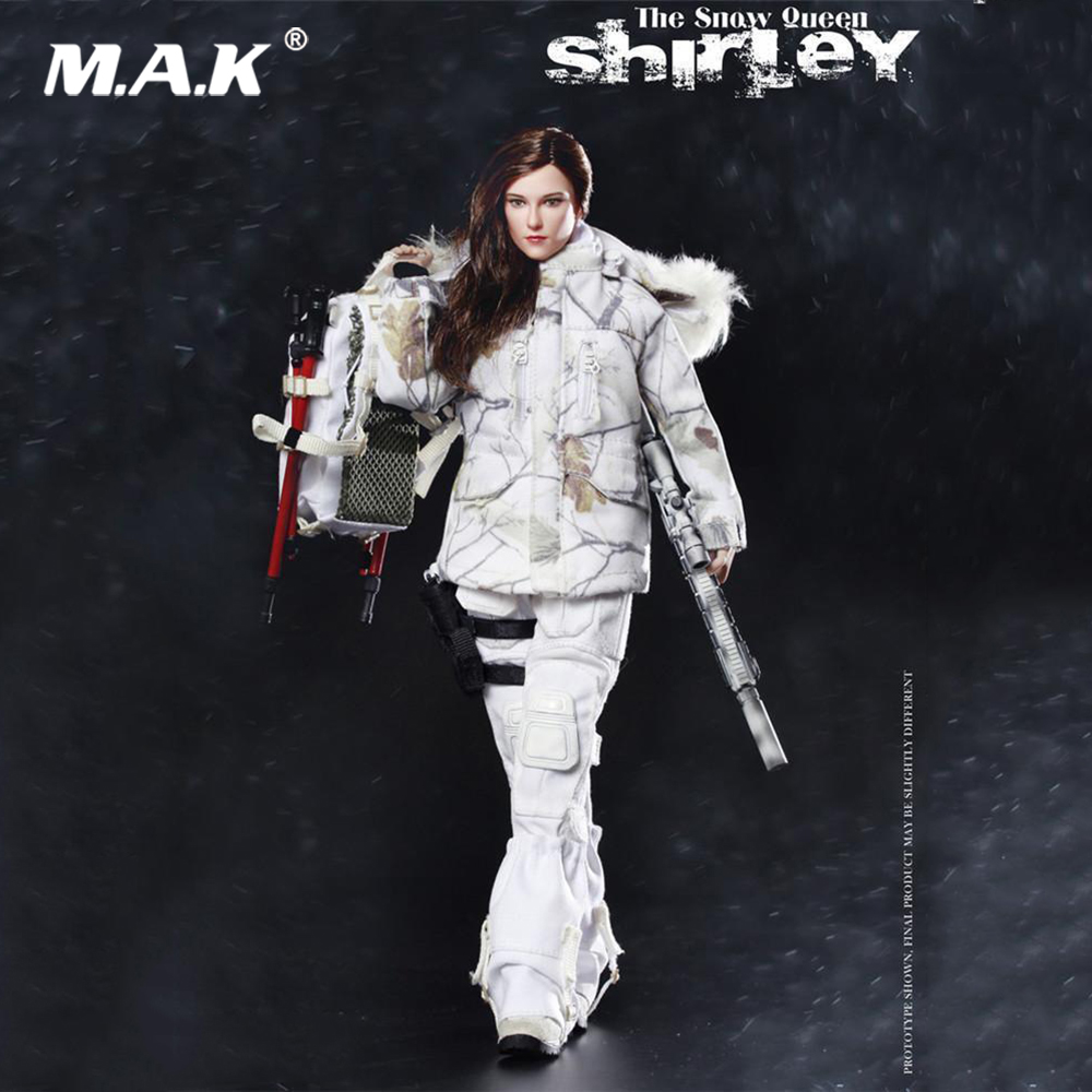 In Stock 1/6 Scale Colletible Full Set 73013 The Snow Queen Shirley Female Soldier Action Figure Model for Fans Collection GiftsIn Stock 1/6 Scale Colletible Full Set 73013 The Snow Queen Shirley Female Soldier Action Figure Model for Fans Collection Gifts