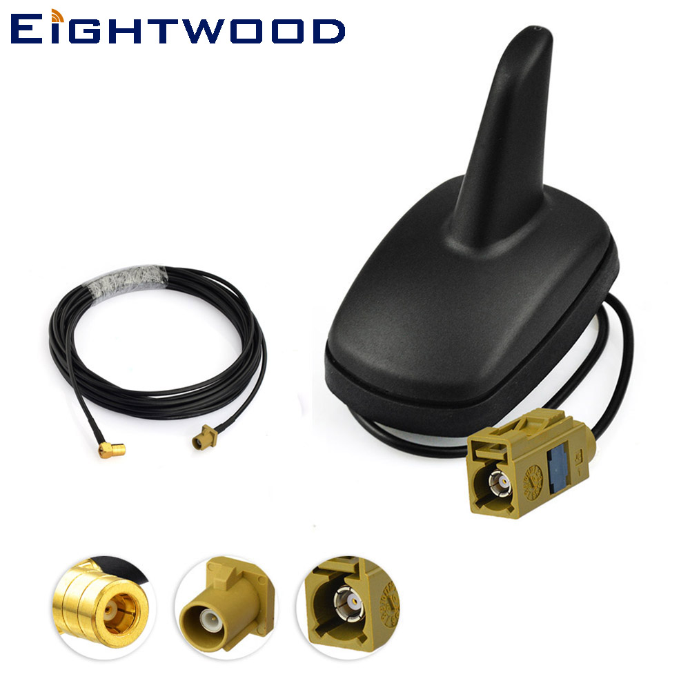 Eightwood Voiture/Camions Satellite Radio Aileron de Requin Antenne + Remplacement Câble pour SiriusXM Pionnier Audiovox Samsung Delphi Belkin