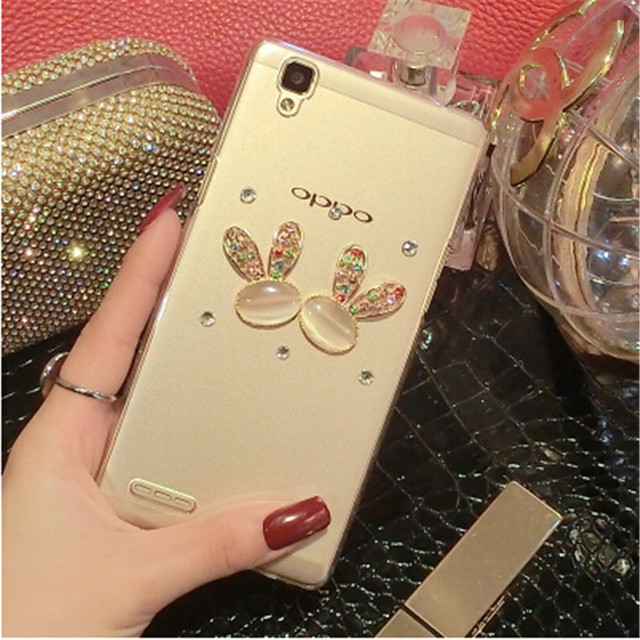 hot sales 52b6a b78b6 US $4.59 |New Luxury 3D goat bunny bling Crystal diamond Mobile phone Shell  Back Cover Skin Hard Case For OPPO F1 on Aliexpress.com | Alibaba Group