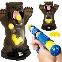5pcs Hungry Bear Shooting Soft Egg Gun Foam Bullet Launching Air Pump Gun Scoring Boy Toy Gun Have Good Quality