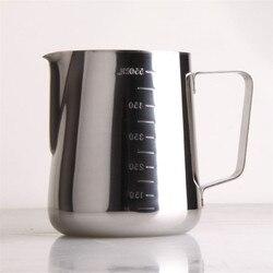 600ミリリットルステンレス鋼のエスプレッソコーヒー投手バリスタキッチンホームクラフトステンレススケールコーヒーラテミルク泡立てジャグ