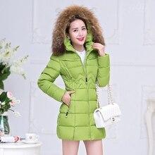 Parka Winter Jacket Women  2017 Female Winter Down Jacket Women's Coat Long Cotton Padded Thicken  Fur Hooded Clothing