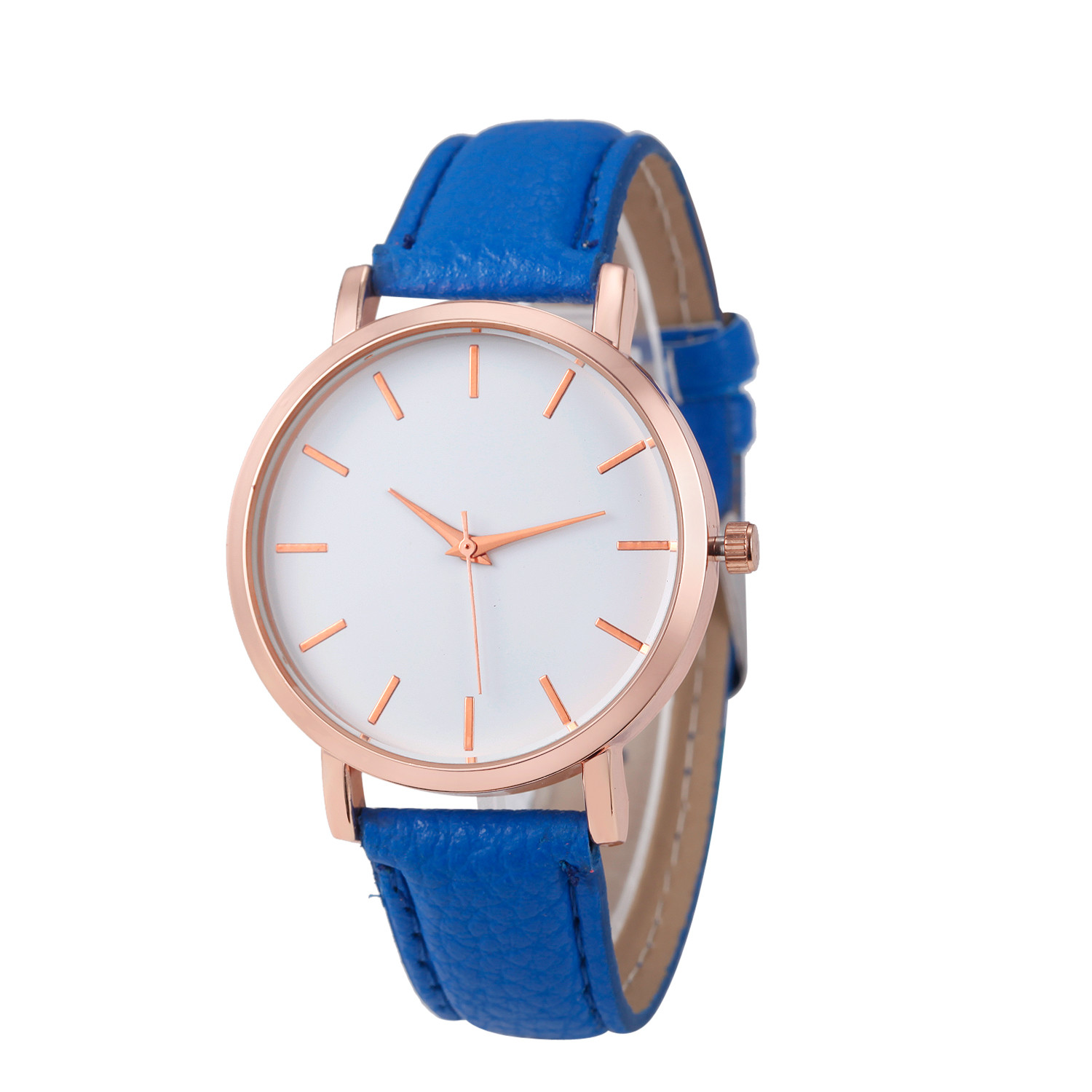Fashion Lady Watch with Blue Leather Strap