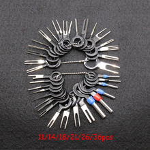 36pcs Car Terminal Removal Kit Wiring Crimp Connector Pin Extractor Puller Terminal Repair Professional Tools 16pcs blind hole pilot slide hammer internal bearing extractor puller tool kit st0030