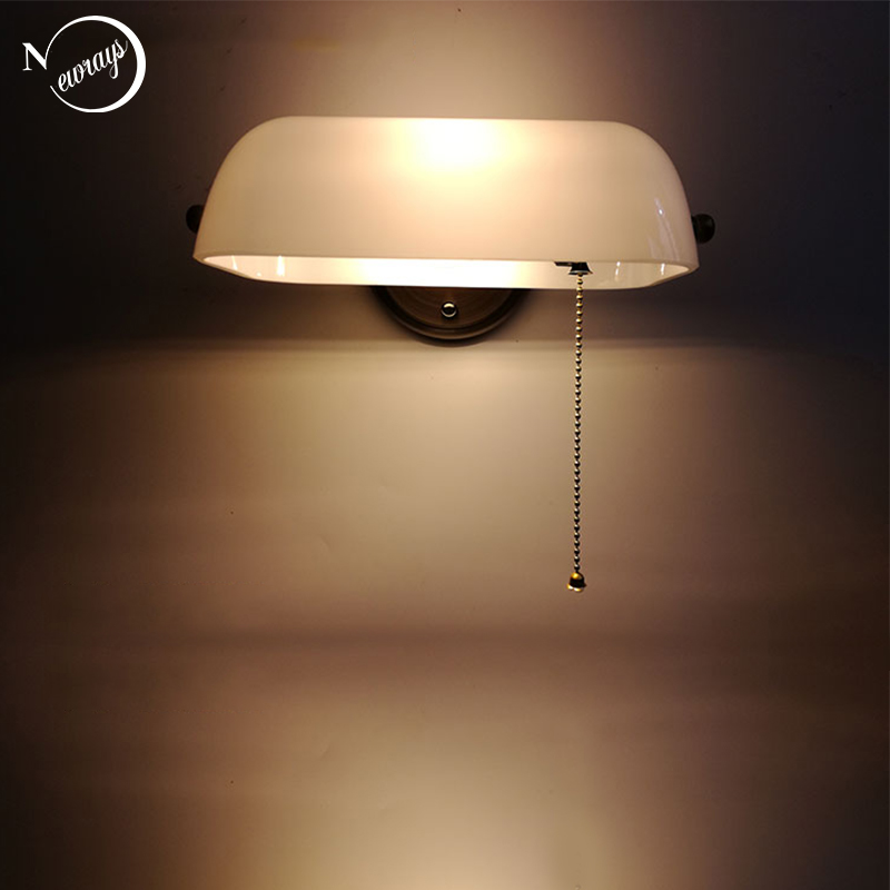 retro tradicional banqueiro verde lampada de parede classica do vintage branco luz led e27 para o