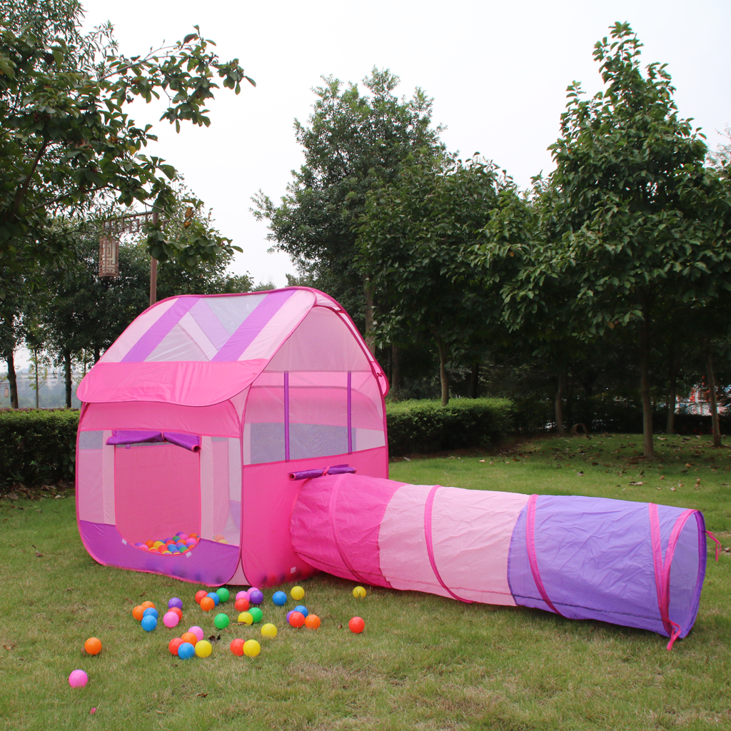Portable Pink Princess Kids Girls Play House Indoor Outdoor Pop Up Tent Toy for Park Garden Yard Party Camping magideal portable kids children baby play house indoor outdoor pop up tent toy for home party garden park picnic beach camping