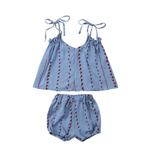 Baby Kid Summer Strap Clothes Set Girls Straps Vest Top+ Floral Shorts Outfits 0-3T 2019