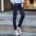 De los hombres Del Otoño Del Resorte joggers pantalones para hombre de color caqui negro pantalones Masculinos pantalones ropa deportiva Casual 28-33