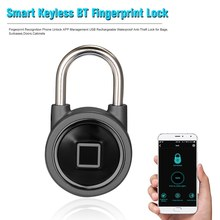 Smart Fingerprint Padlock Keyless Fingerprint/APP Unlock USB Rechargeable Waterproof Anti-Theft Padlock Door Lock Luggage Lock