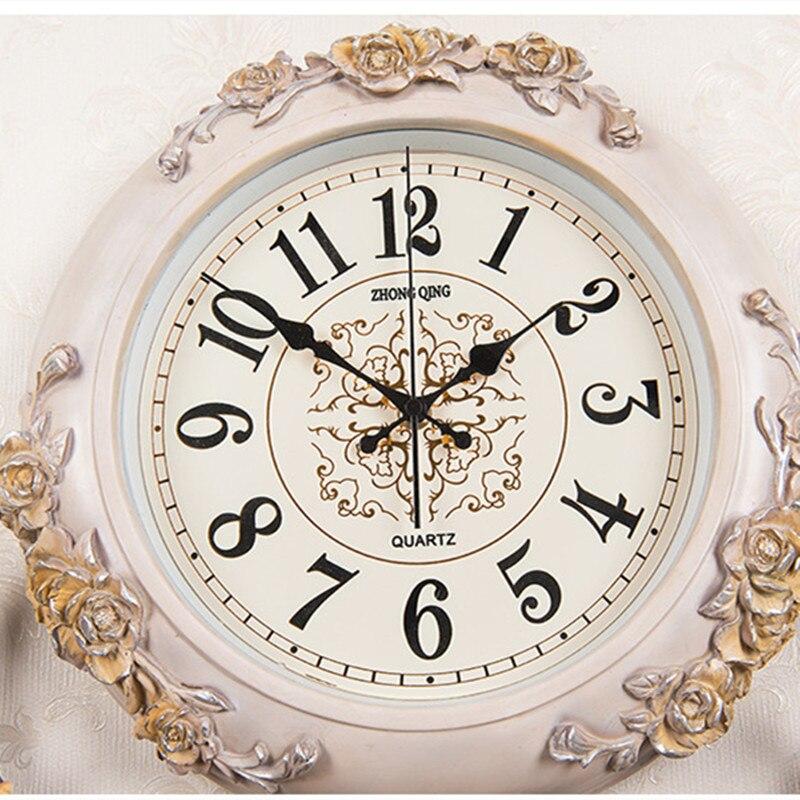 Reloj de estilo europeo para sala de estar, campana colgante, cabeza de ciervo, reloj de cuarzo de moda creativo, reloj decorativo de arte atmosférico Nórdico - 4