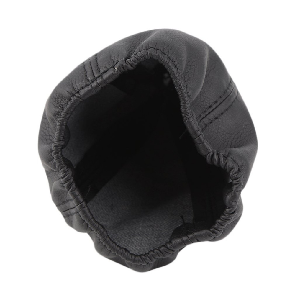 Universal Car Gear Head Dust Cover Vehicle PU Leather Gear Shift Knob Boot Car-styling Black Hot Selling