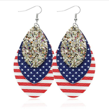 new arrival waterdrop leather earrings for women multilayer glitter lightweight statement fashion jewelry gifts