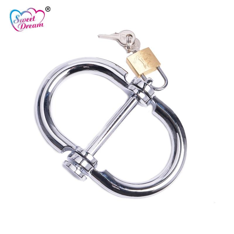 Sweet Dream Metal Stainless Steel Female Handcuffs Men -4639
